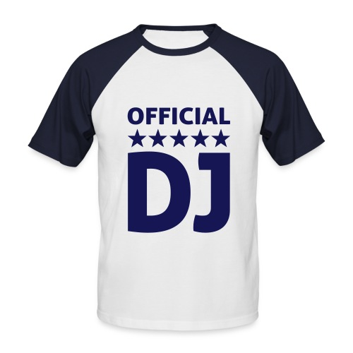 Offical DJ - Männer Baseball-T-Shirt