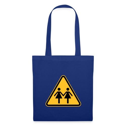 Lesben Shop: Stofftasche für lesbische Frauen  mit Lesbenmotiv - Stoffbeutel