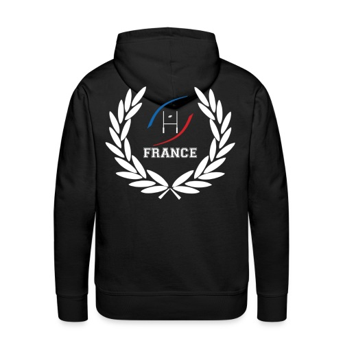 sweatshirt rugby sport design - Sweat-shirt à capuche Premium pour hommes