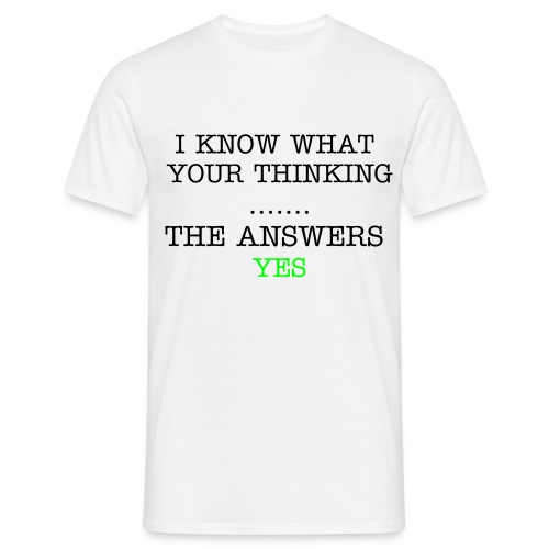 The answers YES - Men's T-Shirt