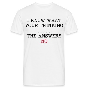 The answers NO - Men's T-Shirt