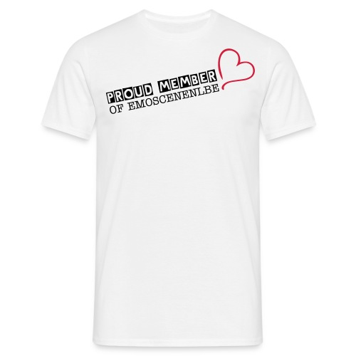 SHIRT PROUD MEMBER OF EMOSCENENLBE - Mannen T-shirt