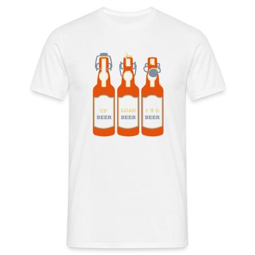 Uploading beer - Men's T-Shirt