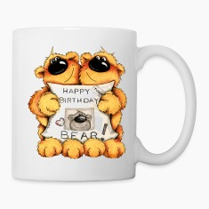 Happy Birthday, Bear Mugs