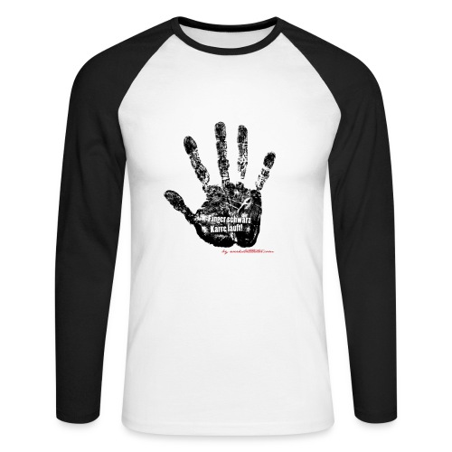 Finger schwarz - Karre läuft (2)  - Männer Baseballshirt langarm