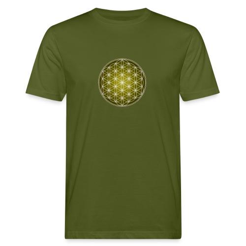 La flor de la vida. The flower of life. Hombre. Man. De algodón orgánico. - Camiseta ecológica hombre