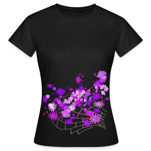 Vio Flower - Frauen T-Shirt