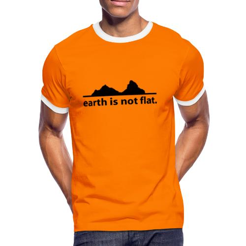 T-Shirt earth is not flat - Männer Kontrast-T-Shirt