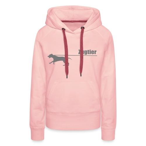 zugtier (mit werbung) - Frauen Premium Hoodie