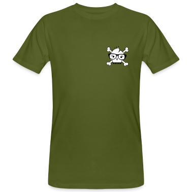 A skull with nerd glasses and braces T-Shirts
