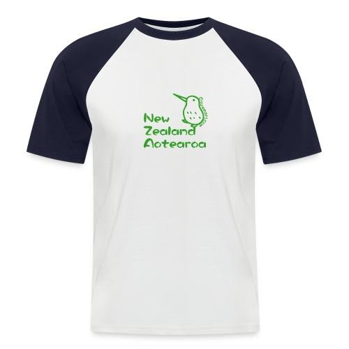 New Zealand's Map - Men's Baseball T-Shirt