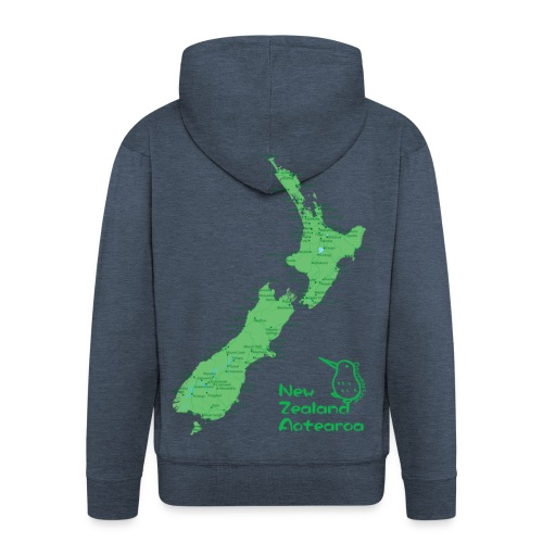 New Zealand's Map - Men's Premium Hooded Jacket