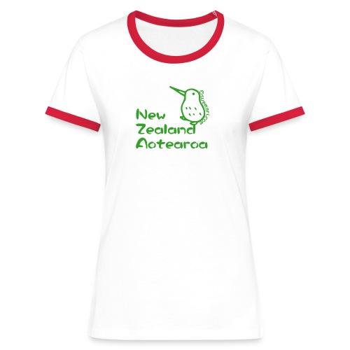 New Zealand's Map - Women's Ringer T-Shirt
