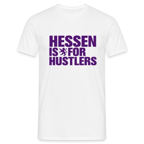 HESSEN IS FOR HUSTLERS T-Shirt, purple/white - Männer T-Shirt