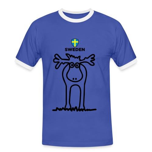 Svenska Älgen - Männer Kontrast-T-Shirt