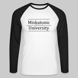 MBL: Miskatonic University - Arkham - Men's Long Sleeve Baseball T-Shirt