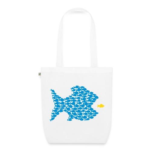 shirt t-shirt tasche fisch fische schwarm angler angeln demokratie fressen evolution beute räuber jagd jäger tier shirt t-shirt tiere - Bio-Stoffbeutel