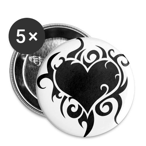 Herz - Buttons klein 25 mm