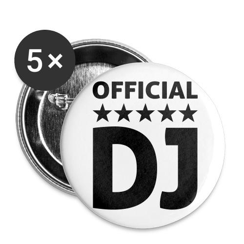 OFFICIAL DJ Rintamerkit 5kpl - Rintamerkit isot 56 mm (5kpl pakkauksessa)