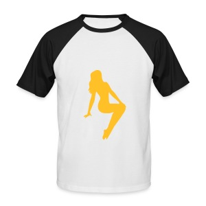 T-shirt pinup 1 - T-shirt baseball manches courtes Homme