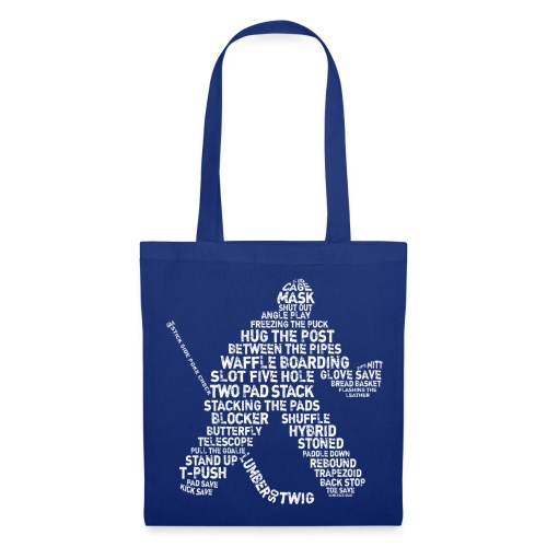 Hockey Goalie Typography Tote Bag   - Tote Bag