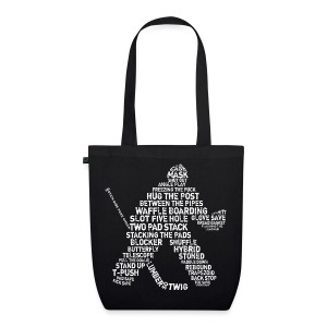 Hockey Goalie Typography Organic Tote Bag  - EarthPositive Tote Bag