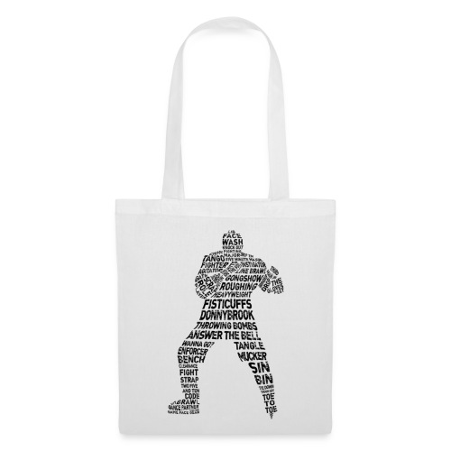 Hockey Enforcer Typography Tote Bag - Tote Bag