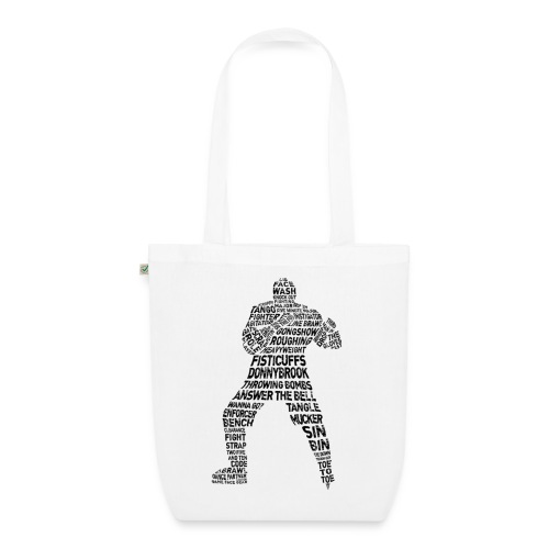 Hockey Enforcer Typography Organic Tote Bag - EarthPositive Tote Bag