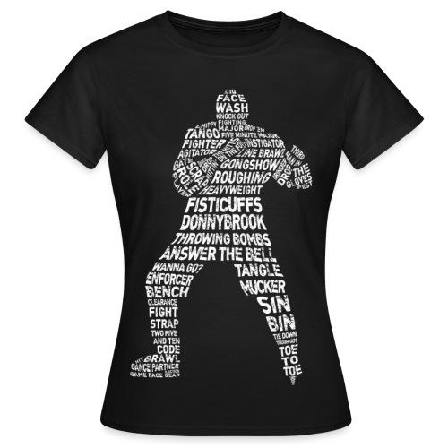 Hockey Enforcer Typography Women's T-Shirt (white print) - Women's T-Shirt