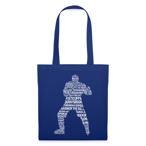 Hockey Enforcer Typography Tote Bag (white print) - Tote Bag