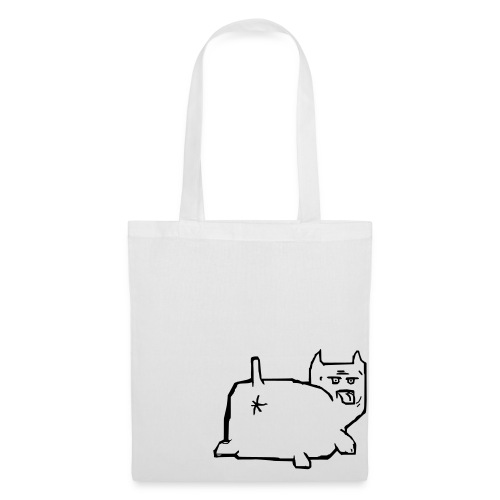 en ful katt - Tygväska