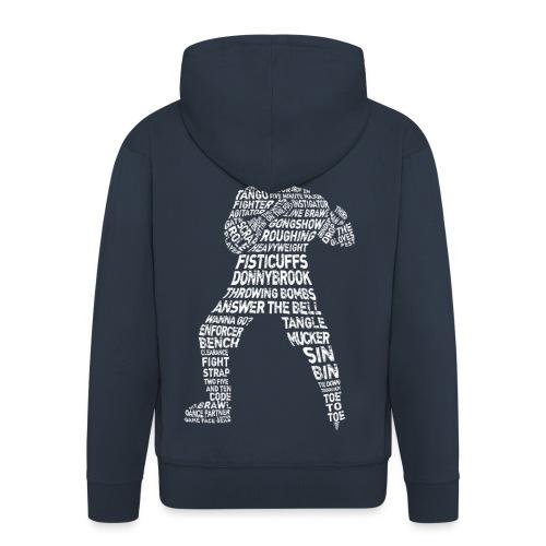 Hockey Enforcer Typography Men's Hooded Jacket - Men's Premium Hooded Jacket