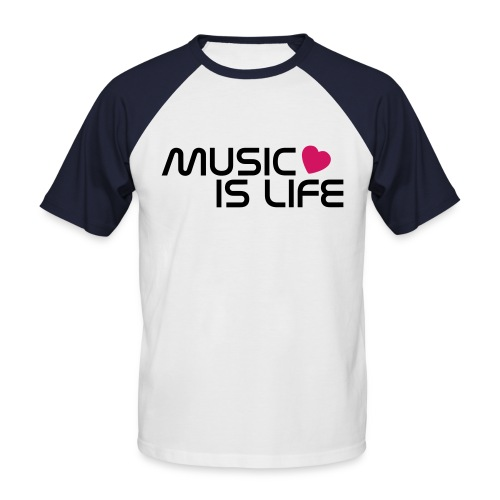 Music is Life Dreiflüsse Reocrds - Männer Baseball-T-Shirt