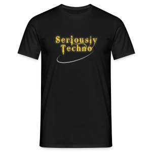 Elektrax Recordings Seriously Techno Gold - Men's T-Shirt