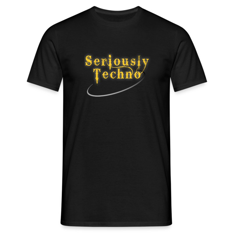 Elektrax Recordings Seriously Techno Gold - Men's T-Shirt