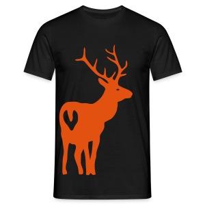shirt t-shirt hirsch geweih elch jäger jagd junggesellenabschied - Männer T-Shirt