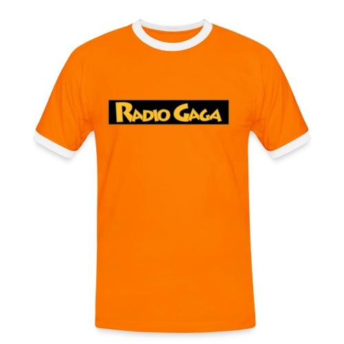Radio Gaga T-shirt med tunerlogo - Kontrast-T-skjorte for menn