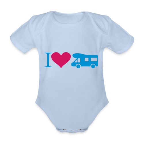 Babybody Camper-Fan - Baby Bio-Kurzarm-Body