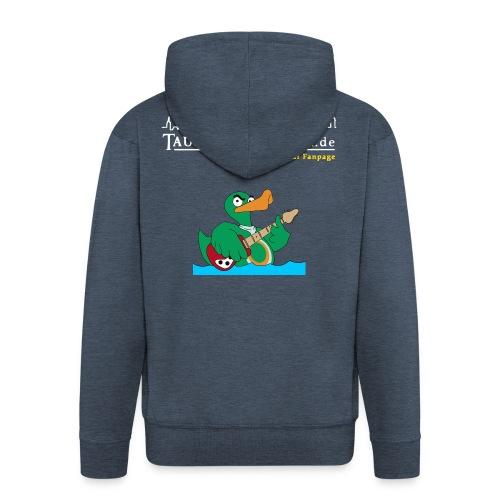 TP Rocky-Kapuzenjacke duck@rock Logo: weiß/gelb - Männer Premium Kapuzenjacke