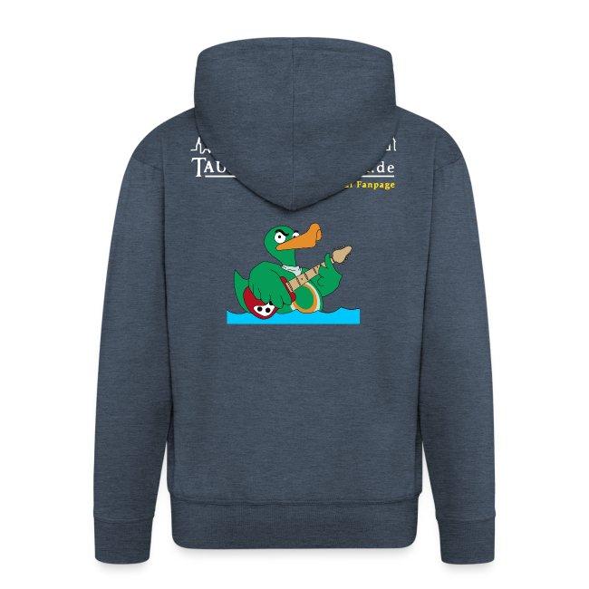 "TP ""Rocky""-Kapuzenjacke duck@rock Logo: weiß/gelb"
