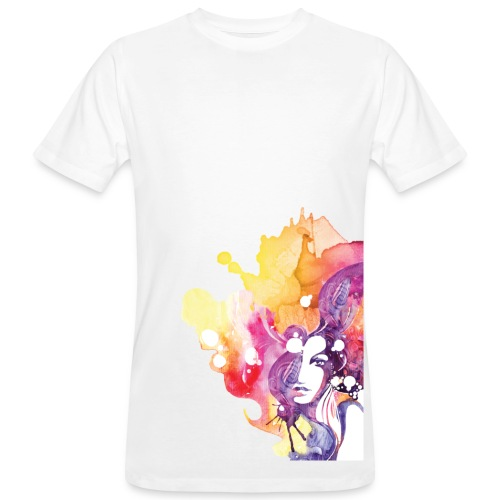 Aquarel White - Men's Organic T-Shirt