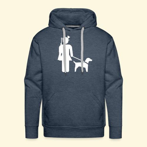 Jägerinnenkapuze Hundeführerin - Männer Premium Hoodie
