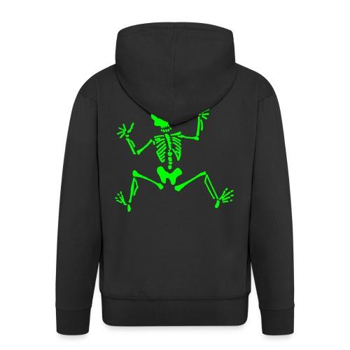 Skelett - Männer Premium Kapuzenjacke