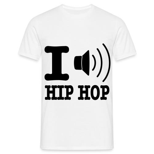I Love HIp Hop Lautsprecher - Männer T-Shirt