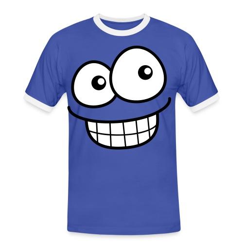 Comic Smile Face - Männer Kontrast-T-Shirt