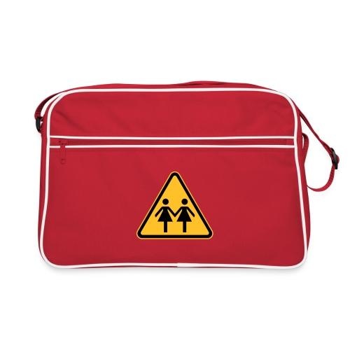 Lesben Shop: Retro Tasche für Lesben mit kultigem Lesbenmotiv - Retro Tasche