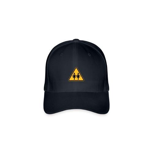 Lesben Shop: Baseball Kappe Cap Mütze ACHTUNG! LESBEN POWER - Flexfit Baseballkappe