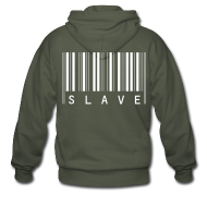 Hoodies & Sweatshirts ~ Men's Premium Hooded Jacket ~ slave pullover