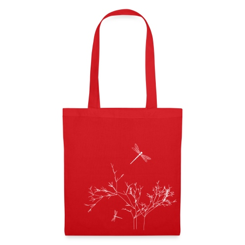 Dragonfly, dunkle Tote Bag - Stoffbeutel