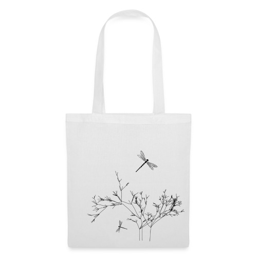 Dragonfly, helle Tote Bag - Stoffbeutel